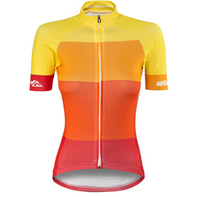 Red Cycling Products Colorblock Race Pyöräilypaita Naiset, red-yellow